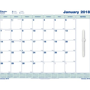 Rediform Static Cling Monthly Wall Calendar REDC151731