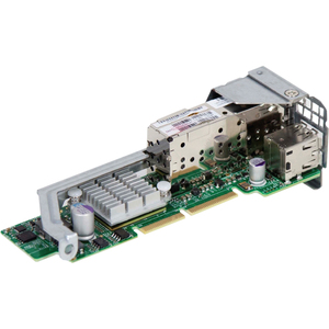Supermicro Compact and Powerful Dual-Port 10 Gigabit Ethernet Adapter - Fiber, Twinaxial - Low-profile