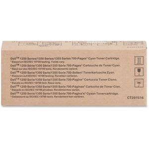 DELL - CONSUMABLES PRINTER & TONER YX24V CYAN TONER FOR 1250C 1350CNW/1355CN/1355CNW/C1760NW