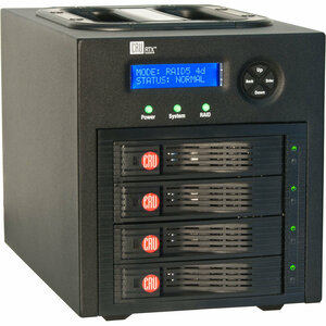 CRU RTX RTX430-3QR DAS Array - 4 x HDD Installed - 8 TB Installed HDD Capacity - RAID Supported - 4 x Total Bays - eSATA, USB 3.0, FireWire/i.LINK 800