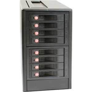 CRU RTX RTX800-XJ DAS Array - 8 x HDD Installed - 24 TB Installed HDD Capacity - RAID Supported - 8 x Total Bays - Mini-SAS Tower