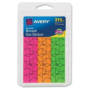 Avery Star-shaped Reward Stickers AVE6017