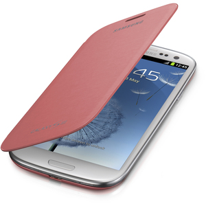 Samsung Carrying Case (Flip) for Smartphone - Pink - Bump Resistant, Scratch Resistant, Smudge Resistant, Dirt Resistant - Plastic