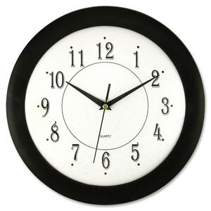 "12"" Black Frame Round Wall Clock"