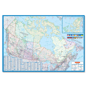 Lamianted Detailed Canada Wall Map