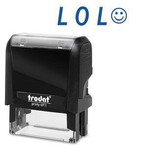 LOL Smiling Face Self Ink Expression Stamp