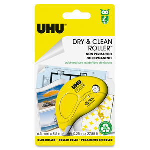 Dry & Clean Solvent Free Glue Roller Tape Adhsv