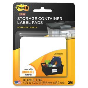 Post-it Super Sticky Storage Container Label MMM2800SC