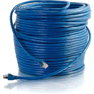 C2G 250 ft Cat6 Snagless Solid Shielded Network Patch Cable | Blue