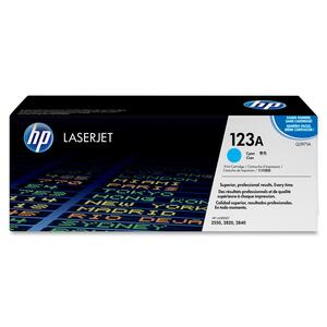 HP 123A Cyan Original LaserJet Toner Cartridge HEWQ3971A