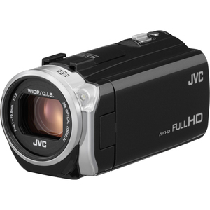 "JVC GZ-E505B Digital Camcorder - 3"" - Touchscreen LCD - CMOS - Full HD - Black - 16:9 - 2 Megapixel Image - AVCHD - 38x Optical Zoom - Optical (IS) - Full HD - Video Light, Microphone - HDMI - USB - Secure Digital Extended Capacity (SDXC) - Memory Card"