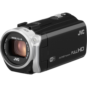 "JVC Everio GZ-EX555BUS Digital Camcorder - 3"" - Touchscreen LCD - CMOS - Full HD - Black - 16:9 - 2 Megapixel Image - 2 Megapixel Video - AVCHD, H.264/MPEG-4 AVC - 38x Optical Zoom - 200x Digital Zoom - Optical, Electronic (IS) - Full HD - 16 GB Flash Mem"