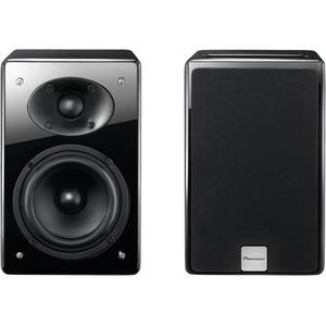 pioneer bookshelf speakers. pioneer 50w wireless bluetooth bookshelf speaker system (black) speakers