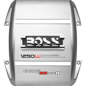 Boss Chaos Exxtreme II CXXM1250 Car Amplifier - 1250 W PMPO - 1 Channel - Class AB - 103 dB SNR - 0% THD - 9 Hz to 50 kHz - MOSFET Power Supply - 1 x 500 W @ 4 Ohm
