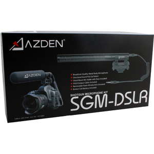 Azden SGM-DSLR Microphone - 80 Hz to 18 kHz - Wired - 3.28 ft - Condenser - Shotgun - Mini-phone