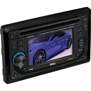 "Boss BV9158B Car DVD Player - 4.5"" Touchscreen LCD - 320 W RMS - Double DIN - DVD Video, Video CD, MP4, MPEG - AM, FM - Secure Digital (SD), MultiMediaCard (MMC) - Bluetooth - Auxiliary InputiPod/iPhone Compatible - In-dash"