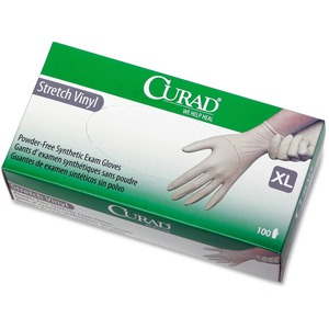 Curad Stretch Vinyl Exam Gloves MIICUR8227R