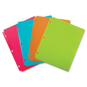 Wilson Jones Snapper Folder Two Pockets Assorted Fashion Colors WLJ40027