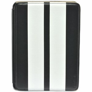 Gear Head Executive FS3300BLK Carrying Case (Portfolio) for iPad mini - Black with White Strips - Leather