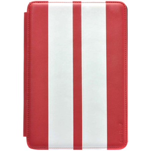 Gear Head Executive FS3300RED Carrying Case (Portfolio) for iPad mini - Red with White Strips - Leather