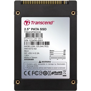TRANSCEND SSD 330 IDE 2.5in MLC (64GB)