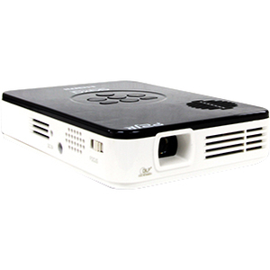 AAXA Technologies Pico DLP Projector - 16:9 - 640 x 480 - VGA - 1,000:1 - 55 lm - HDMI - USB - VGA In - microSD Card - Built-in - Media Player - 6 W - Glossy White, Gloss Black Color