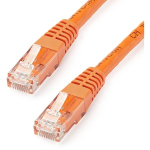 StarTech.com 35 ft Cat 6 Orange Molded RJ45 UTP Gigabit Cat6 Patch Cable | 35ft Patch Cord