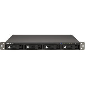 QNAP High-performance 4-bay NAS Server for SMBs - Marvell 6282 1.60 GHz - 4 x USB Ports
