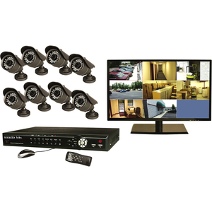 "Security Labs 8 Channel 3G/4G H.264 Internet DVR w/ Camera Kit SLM463 - 8 x Camera, Monitor, Digital Video Recorder - 18.5"" LED - H.264, JPEG Formats - 1 TB Hard Drive"
