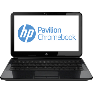 "HP Pavilion Chromebook 14-c035us D1A53UT 14"" LED Notebook - Intel Celeron 1.10 GHz - 4 GB RAM - 320 GB HDD - Intel Graphics Media Accelerator HD Graphics - Chrome OS - 1366 x 768 Display - Bluetooth"