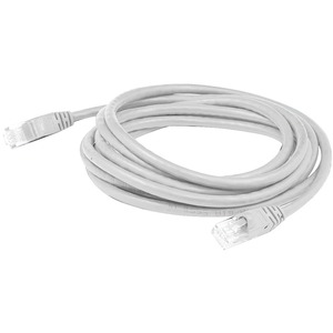 AddOn - Network Upgrades 30ft White Molded Snagless Cat6A - Category 6a for Network Device - 30 ft - 1 x RJ-45 Male Network - 1 x RJ-45 Male Network - White