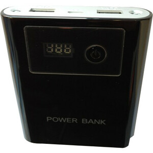 4XEM Smart Phone External Power Charger Black