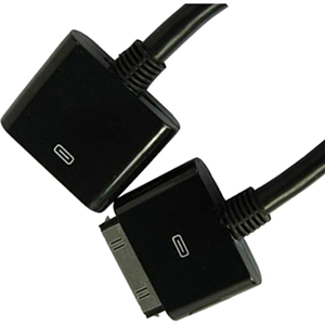 4XEM 4 Chip Extension Cable for iPhone/iPad/iPod - Proprietary for iPad, iPhone, iPod - 6 ft - 1 x Male Proprietary Connector - 1 x Female Proprietary Connector - Black