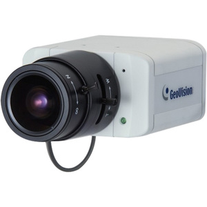 GeoVision GV-BX140DW Surveillance/Network Camera - Color, Monochrome - CS Mount - 4.3x Optical - CMOS - Cable - Fast Ethernet