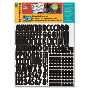Pacon White Glossy Foam Board Make-a-Poster Kit PAC5528