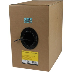 StarTech.com 1000 ft Bulk Roll of Black CMR Cat5e Solid UTP Riser Cable