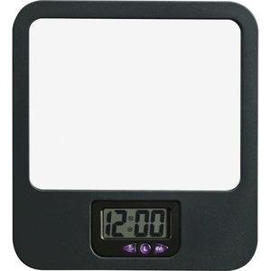 Fabric Panel Digital Clock Mirror