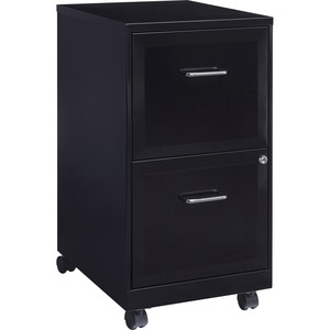 "Lorell SOHO 18"" 2-Drawer Mobile File Cabinet LLR16872"