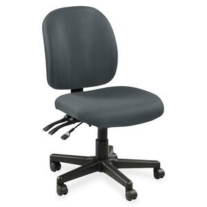 Lorell Mid-Back Task Chair w/o Arms LLR53101