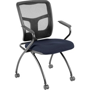 Lorell Mesh Back Fabric Seat Nesting Chair LLR8437401