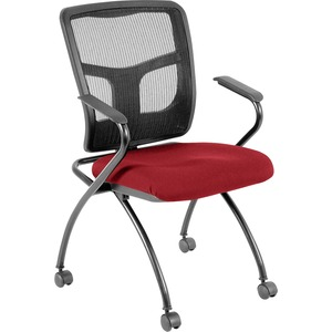 Lorell Mesh Back Fabric Seat Nesting Chair LLR8437402