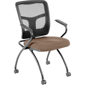 Lorell Mesh Back Fabric Seat Nesting Chair LLR8437403