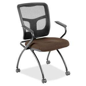 Lorell Mesh Back Fabric Seat Nesting Chair LLR8437408