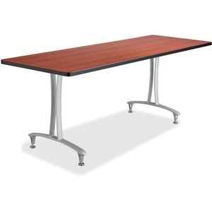 Safco Cherry Rumba Training Table w T-legs/Glides SAF2097CYSL