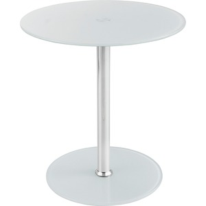 Safco Tempered-glass Accent Table SAF5095WH