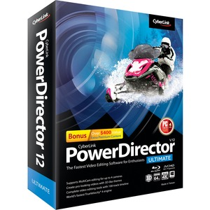 Cyberlink PowerDirector v.12.0 Ultimate - Complete Product - 1 User - Video Editing - Standard Box Retail - PC