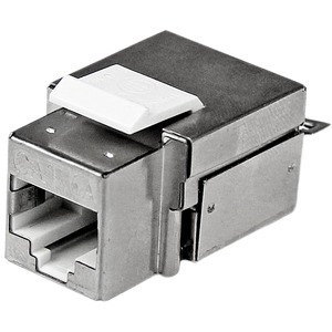 StarTech.com Shielded Cat 6a Keystone Jack | RJ45 Ethernet Cat6a Wall Jack White | 110 Type