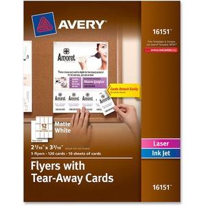 Custom Flyers with Detachable Cards