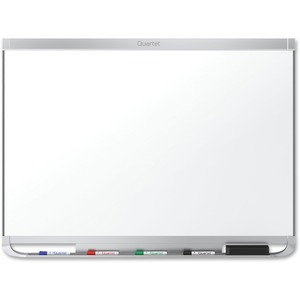 Acco Brands Corporation Quartet® Prestige® 2 Duramax® Porcelain Magnetic Whiteboard, 4 X 3, Aluminum Frame - 48 (4 Ft) Width X 36 (3 Ft) Height - White Porcelain Surface - Silver Aluminum Frame - Horizontal - 1 Each - Taa Compliant