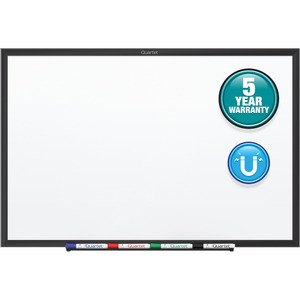 Acco Brands Corporation Quartet® Classic Magnetic Whiteboard - 60 (5 Ft) Width X 36 (3 Ft) Height - White Painted Steel Surface - Black Aluminum Frame - Horizontal/vertical - 1 Each